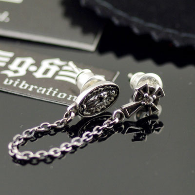 original import, 925 Sterling Silver Original GV holy mother and crossconnected body earstud
