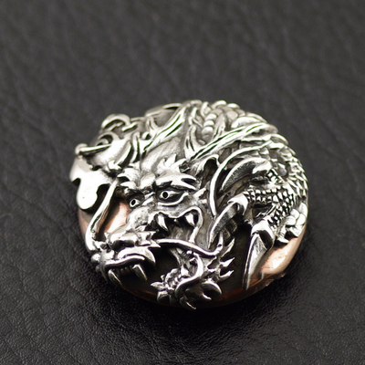 Japan import, 925 Sterling Silver carefuly crafted dragon clip, DIY wallet clip clip buckle